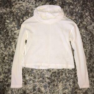 Ivory Free People Turtleneck Sweater